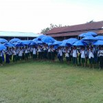 Student kit distribution in Shan Taung village,Mrauk U.