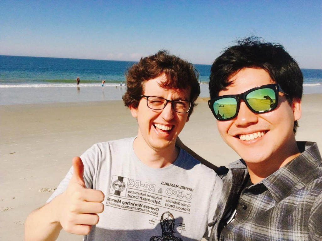 Me and my Korean roommate visiting Savannah, Georgia, and seeing the Atlantic ocean for the first time.